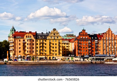 Colorful houses in Stockholm.