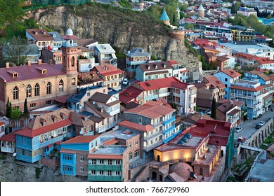 Colorful houses in Tbilisi, Georgia.