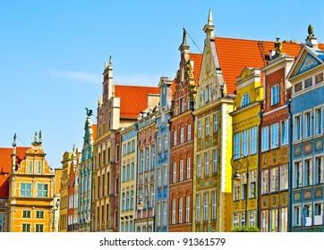 Colorful houses - Colorful houses - tenements in old town Gdansk, Poland
