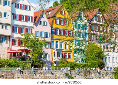 Colorful houses in Tuebingen,Stuttgart Germany