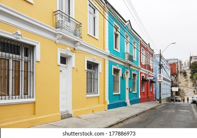 Colorful houses in Valparaiso, Chile