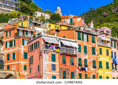 Colorful houses in Vernazza village Italy