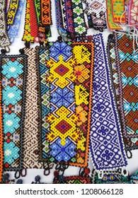 Colorful huichol bracelet