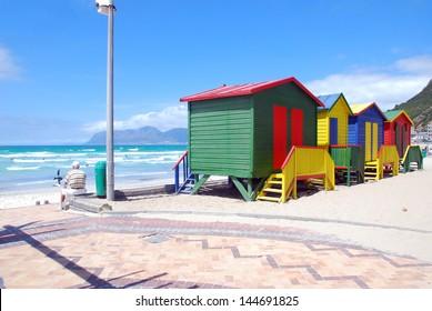 colorful huts at Muzenberg