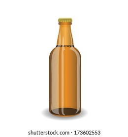 colorful illustration with bottle of beer for your design