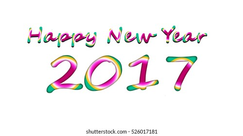 Colorful image background for happy new year.