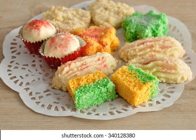 Colorful Indian biscuits