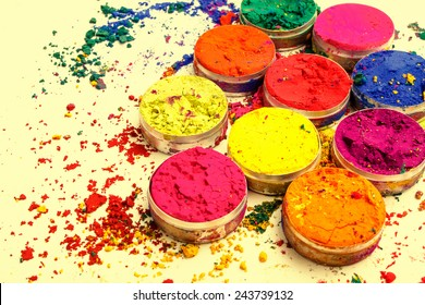 Colorful Indian powder