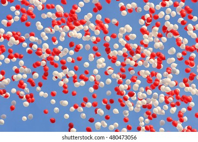 Colorful inflatable small balloons