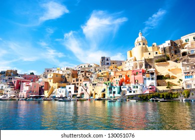 Colorful island of Procida, Naples - Italy