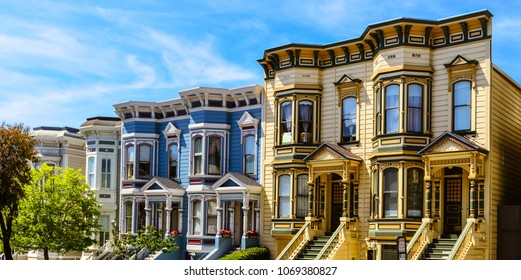 Colorful Italianate Victorian Homes - San Francisco, CA