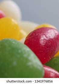 Colorful jelly bean sweets close up