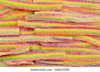 Colorful jelly beans background. Jelly candies pattern.
