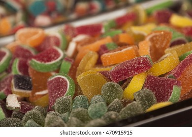 colorful Jelly candies and jelly