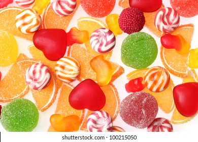 colorful jelly candies background