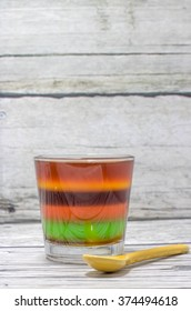 Colorful jelly  pudding