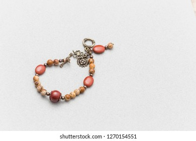 Colorful jewels on a grey background