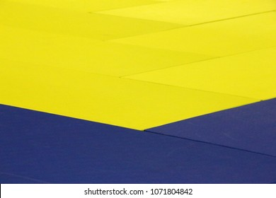 Colorful judo mats