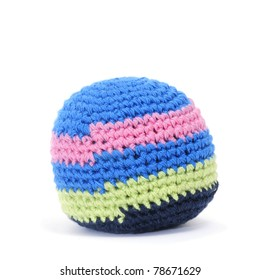 a colorful juggling ball on a white background