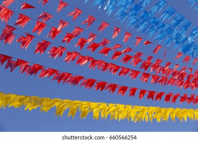 Colorful Junina Party Flags