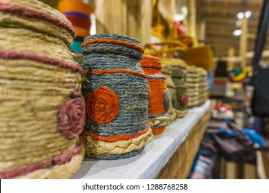 Colorful jute handicrafts product