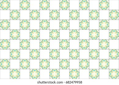 Colorful kaleidoscopic tiles pattern for textile, ceramic tiles, wallpapers and design