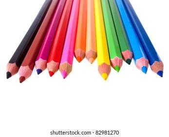Colorful kid color pencils