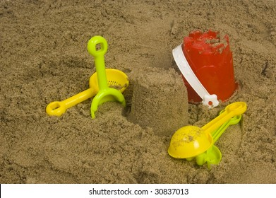 colorful kids toy for the beach