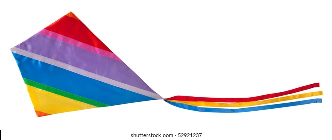 Colorful kite isolated on white background