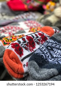 colorful knit socks