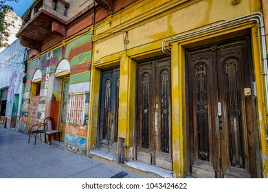 The colorful La Boca district in Buenos Aires, Argentina