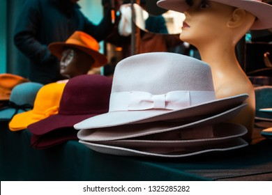 Colorful ladies' trilby / fedora hats
