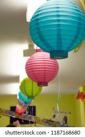 Colorful lampion birthday party