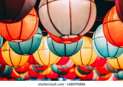 Colorful Lampion in Taman Pelangi Yogyakarta
