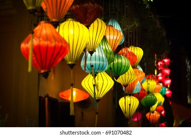 colorful lampions in Hoi An Vietnam