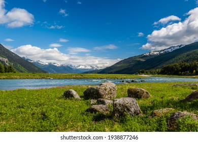 Colorful landscape near Haines Alaska in southeast Alaska