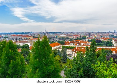 Colorful landscape of Prague (Praha), capital of the Czech Republic.