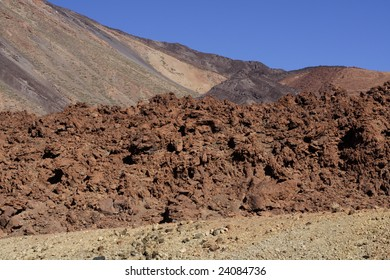 Colorful lava and rock formations in Teide National Park, Tenerife, Spain