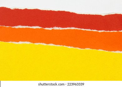 colorful layers of torn paper