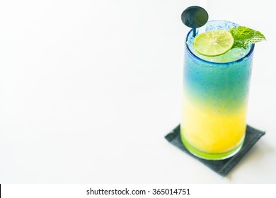 Colorful lemon mocktail juice