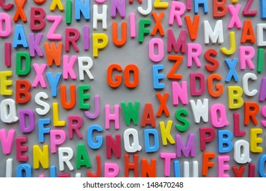 Colorful letter texture with GO concept
