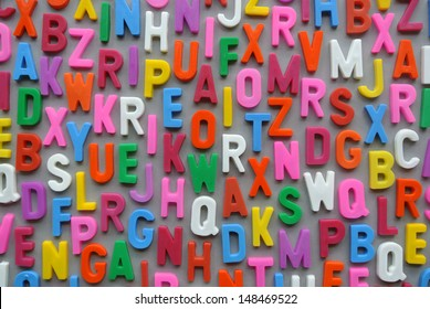 Colorful letter texture wallpaper background