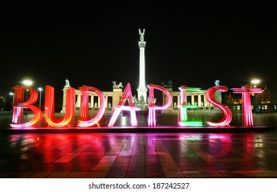 colorful letters of Budapest