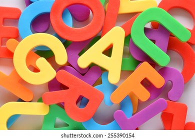 Colorful letters learning background