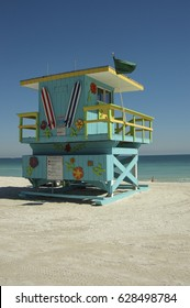 Colorful Lifeguard house, Commercial use.