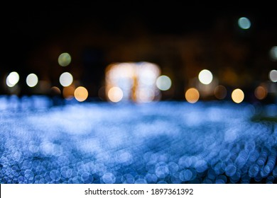 Colorful light bokeh abstract  background.