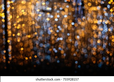 Colorful light bokeh background.