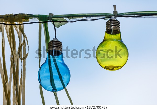 Colorful light bulbs as decoration