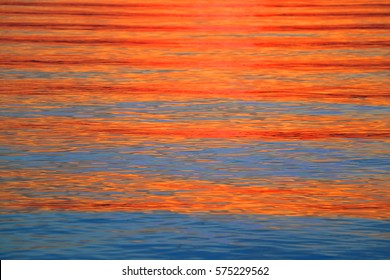 colorful light water  refection on sunset