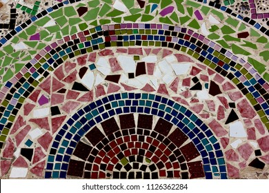 colorful little mosaic  abstract background